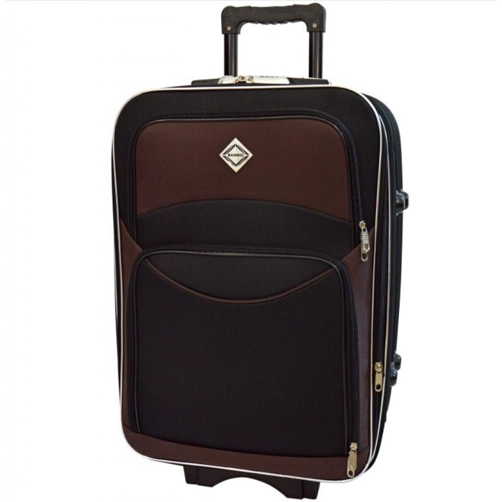 Чемодан на колесах Bonro Style (большой) чорно-коричнева