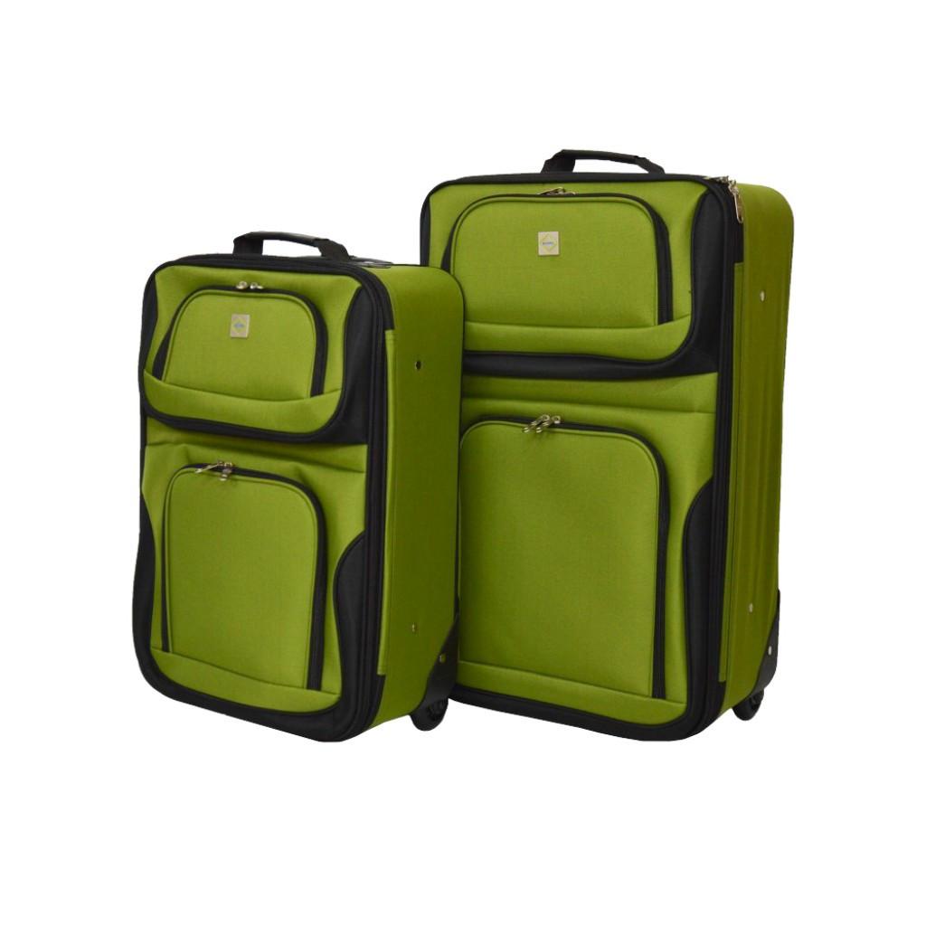 Набір валіз Bonro Best 2 шт  зелений