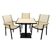 """Комплект мебели для сада """"Мальта"""" стол (80*80) + 2 стула Белый, фото 1"""