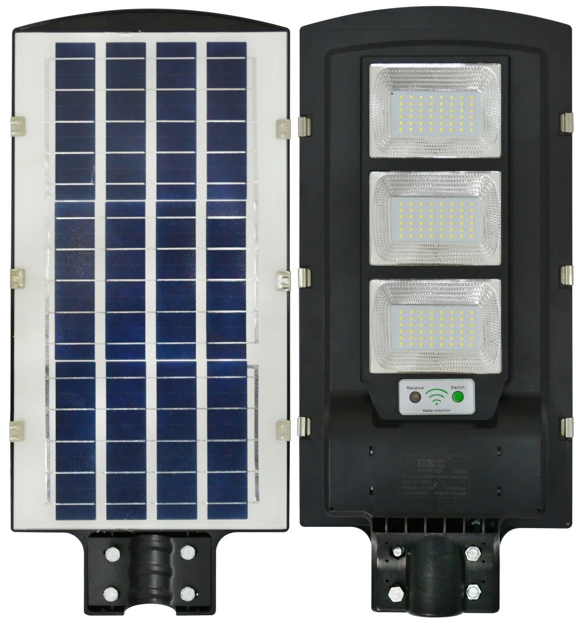 Уличный фонарь на солнечной батарее с датчиком движения UKC-5623 светильник на столб для уличного освещения