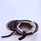 Утепленные кроссовки мальчикам, р. 32, 34, 35, 36. Демисезонные синие ботинки., фото 6