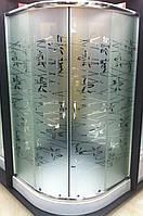 Душевая кабина SANTEH TATIANA 1001-T 100х100х15 низкий поддон, стекло рисунок