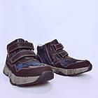 Утепленные кроссовки мальчикам, р. 32, 34, 35, 36. Демисезонные синие ботинки., фото 5