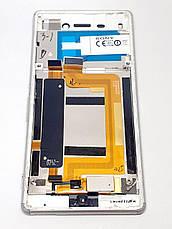 Модуль дисплей сенсор рамка шлейф кнопок белый  Sony E2333 Xperia M4 Aqua LTE, E2306/E2312/E2303/E2353/E2363 o, фото 2