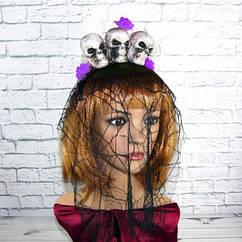Аксессуар на ободке Три призрака фиолет