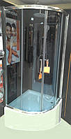 Душова кабіна INVENA Marbella графіт 90x90 з глибоким піддоном 38,5см