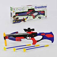 Арбалет с лазерным прицелом, стрелы-присоски, игрушечный арбалет