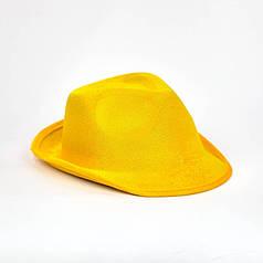 Шляпа Гангстерская жёлтая
