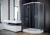 Кабіна душова Besco Modern 120x90 L ліва + піддон з сифоном