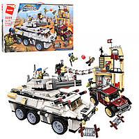 """Военный конструктор """"Военная база. Танк"""" для мальчиков, от 6 лет, 930 деталей"""