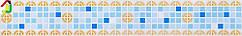 """Декоративний Фриз Декопан Регул """"Синій Мікс"""", панелі ПВХ, фриз на стіну, оздоблення стін"""