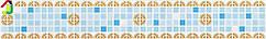 "Декоративный Фриз Декопан Регул ""Голубой Микс"", панели ПВХ, фриз на стену, отделка стен"