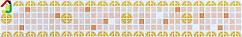 Декоративний Фриз Декопан Регул Помаранчевий Мікс, панелі ПВХ, фриз на стіну, оздоблення стін