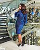 Эффектное женское силуэтное платье из люрекса большого размера, размеры 48-50, 52-54, 56-58, фото 2