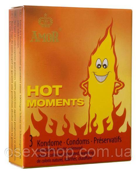 Презервативы - Amor Hot Moments, 3 шт.