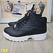 Высокие кроссовки черные на белой подошве зима, фото 8