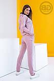 Спортивный костюм женский (свитшот, брюки) из турецкой двухнити, весна-осень, разные цвета р.S,M,L Код 2-1492G, фото 4