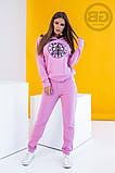Спортивный костюм женский (свитшот, брюки) из турецкой двухнити, весна-осень, разные цвета р.S,M,L Код 2-1492G, фото 8