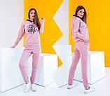 Спортивный костюм женский (свитшот, брюки) из турецкой двухнити, весна-осень, разные цвета р.S,M,L Код 2-1492G, фото 6