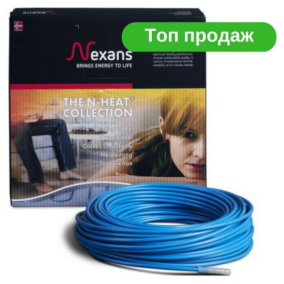 Nexans (19,4 м2 - 24,0 м2) Нагрівальний кабель двожильний Тепла підлога