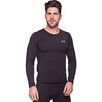 Компрессионная футболка мужская с длинным рукавом Лонгслив для спорта Under Armour Черный (CO-8151) M (44-46)