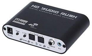 Оптический аудио декодер звука с оптики S/PDIF конвертер AC3 DTS Dolby Digital (TOSLINK-RCA5.1)