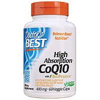 Коэнзим Q10 Высокой Абсорбации 400 мг, BioPerine, Doctor's Best, 60 желатиновых капсул (DRB00157)