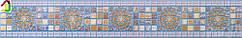 """Декоративний Фриз Декопан Регул """"Синій Медальйон"""", панелі ПВХ, фриз на стіну, оздоблення стін"""