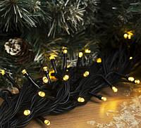 Гирлянда уличная LUMION нить 200LED 10m 230V цвет желтый/КАУЧУК черный IP44 EN