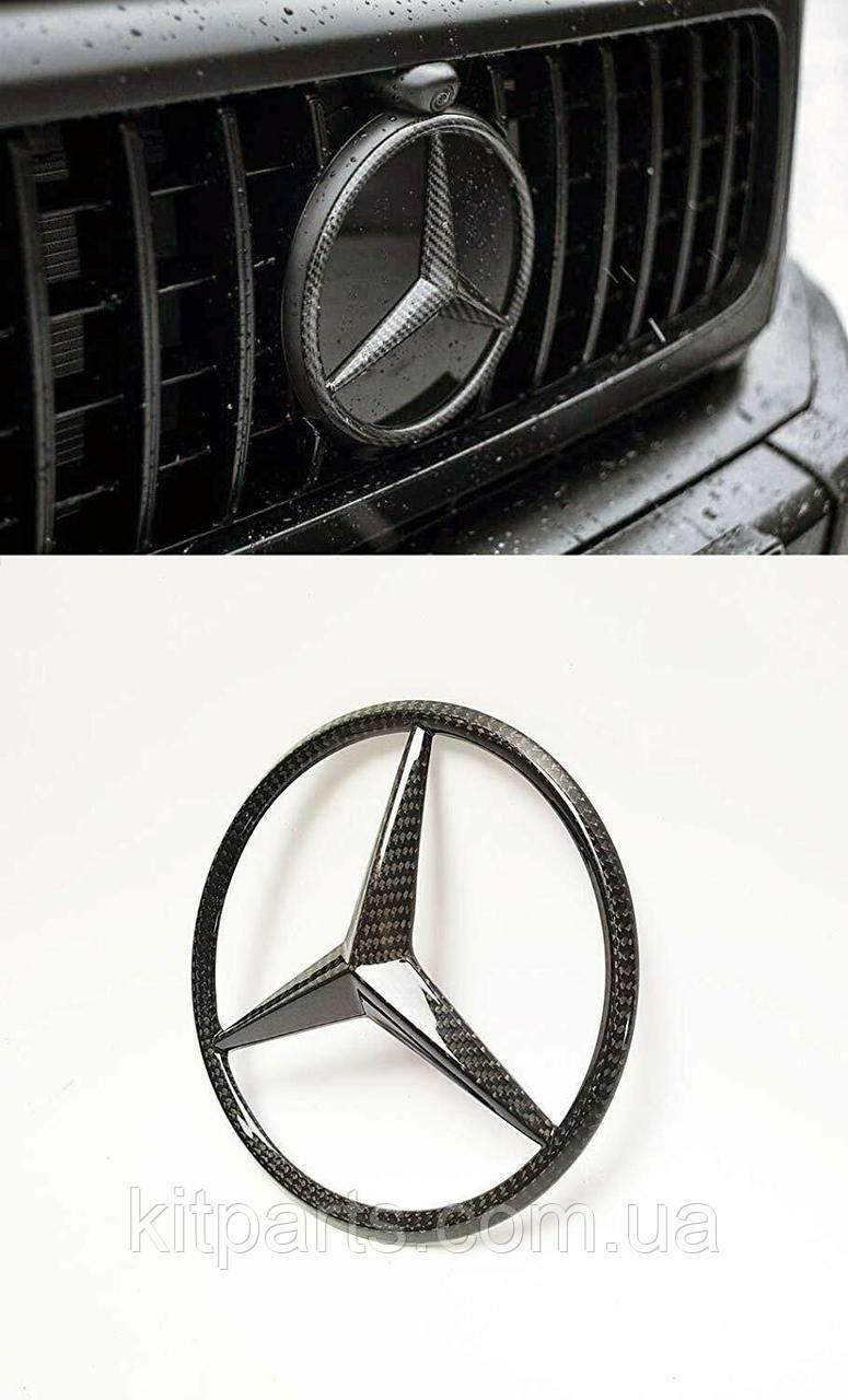 Карбоновая эмблема в решетку радиатора для W463A W464 Mercedes-Benz G-Class G63 G500 G400 G Wagon