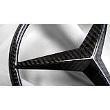 Карбоновая эмблема в решетку радиатора для W463A W464 Mercedes-Benz G-Class G63 G500 G400 G Wagon, фото 3