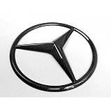 Карбоновая эмблема в решетку радиатора для W463A W464 Mercedes-Benz G-Class G63 G500 G400 G Wagon, фото 6