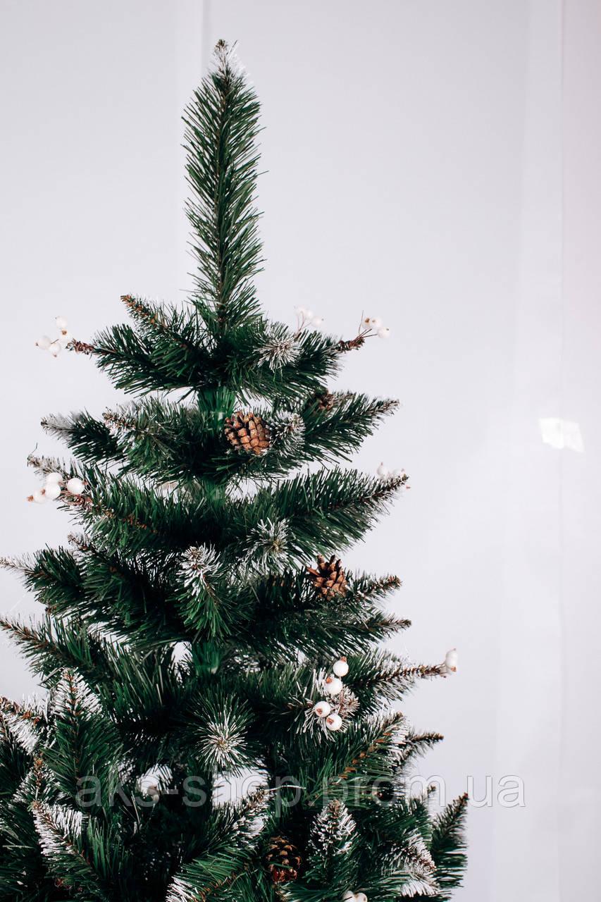 Ель искусственная 2,5 м Рождественская калина белая с шишками