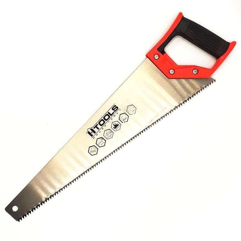 Ножовка по дереву с каленым зубом 450 мм, 55 HRC, 5 TPI. HTools, 10K146