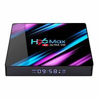 TV приставка Rockchip H96 Max RK3318, 4GB RAM, 64GB ROM, черная