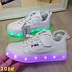 Детские кроссовки белые светящиеся с подсветкой Led 27-32р, фото 6
