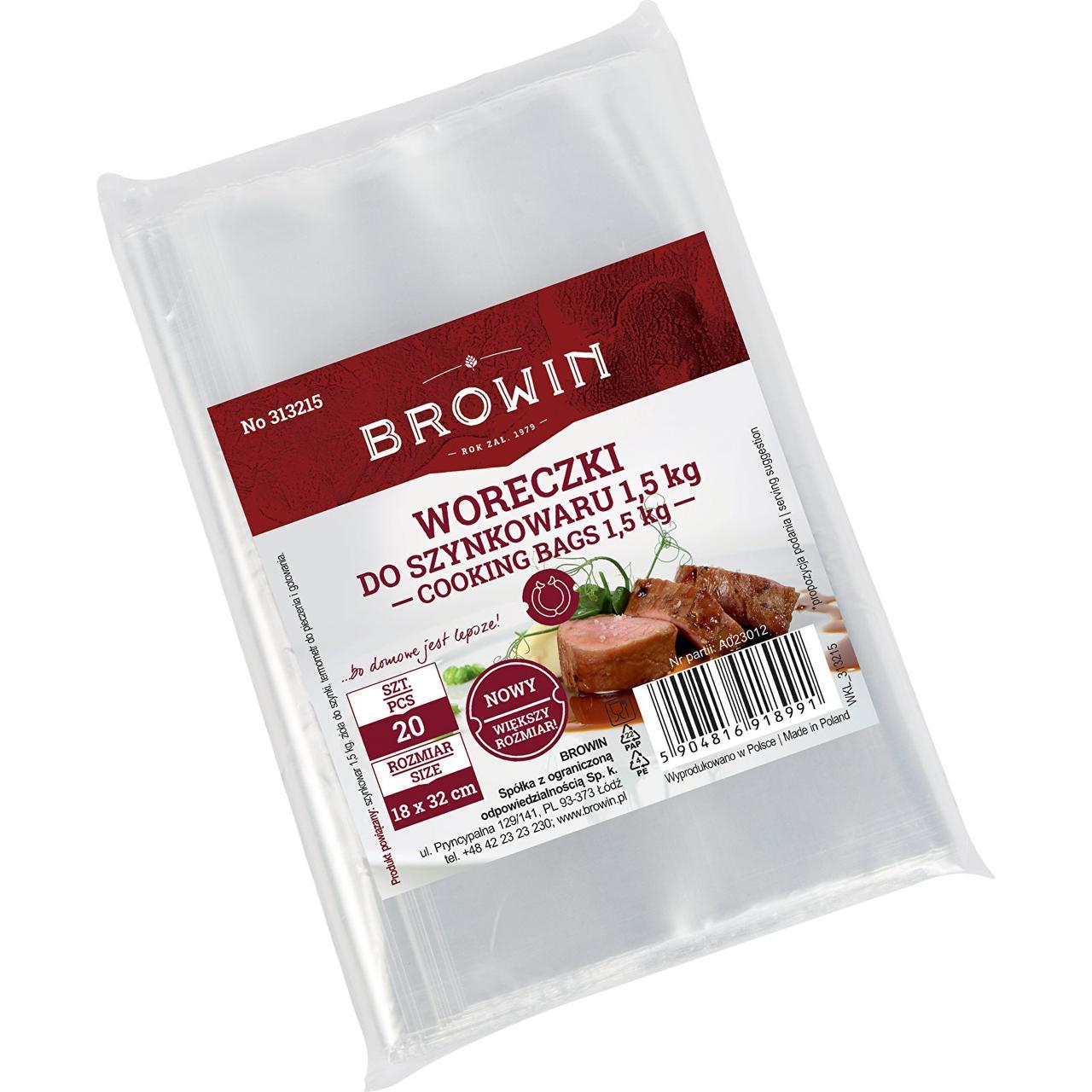 Набор пакетов для ветчинниц Browin 1,5 кг  20 шт (313215)