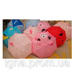 Зонтик детский MK 4456 (30шт) длина62см,трость59см,диам.78см,спица44см,ткань,9видов, в кульке