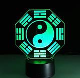 Електричний світильник Настільний з оптичним ефектом 3D, фото 5