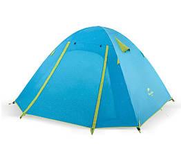 Туристическая палатка для четырех человек с алюминиевыми стойками 4-х местная двухслойная P-Series 210T65D