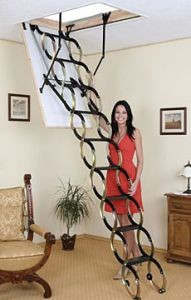 Раздвижная чердачная лестница Ножничная 120*70