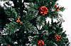 Ель искусственная  1,5 м Рождественская калина красная с шишками| Різдвяна Єлітна, фото 7