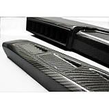 Карбоновые шнорхеля боковые для W463 W461 G55 G65 G63 G500 Mercedes G Wagon G class в стиле Brabus, фото 5