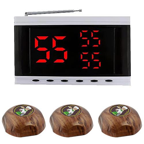 Система вызова официанта RECS №152   кнопки вызова официанта 3 шт + приемник вызовов