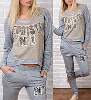 """""""Егоїст"""" брендовий гламурний спортивний костюм Туреччина XS S M L XL 50 52 54, фото 1"""