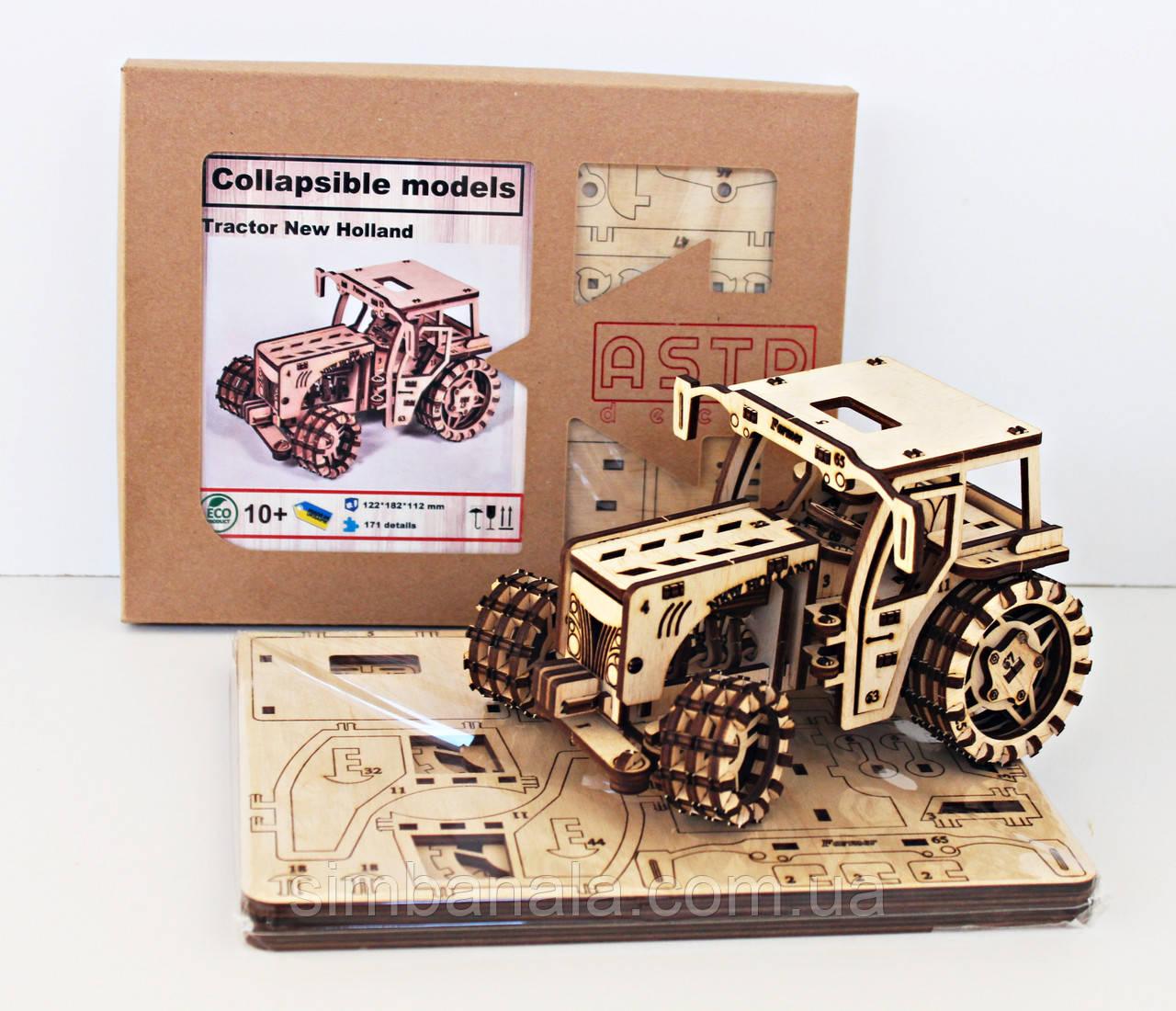 Дерев'яний 3D-конструктор  Трактор Farmer