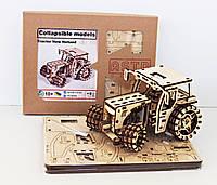 Дерев'яний 3D-конструктор  Трактор Farmer, фото 1