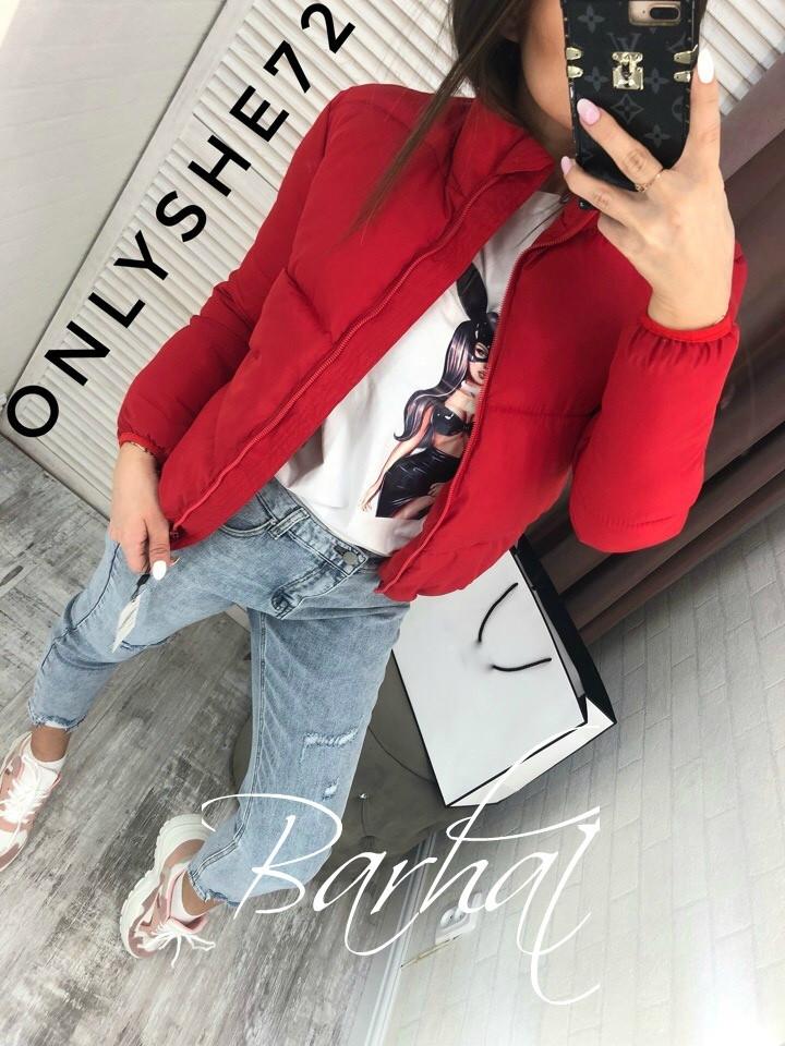 Куртка женская Плащевка Канада  42-44, 44-46 рр, олива, красный, бежевый