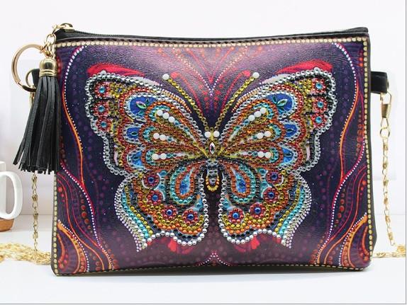 Набор для творчества Crystal art сумка с алмазной мозаикой Бабочка (MI_DS06)