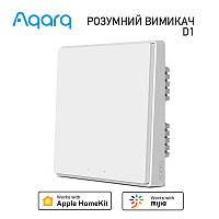 Вимикач 1-2-3 клавіші Xiaomi Aqara D1 Zigbee Wall Switch HomeKit (без нуля, QBKG21LM, QBKG22LM, QBKG25LM)